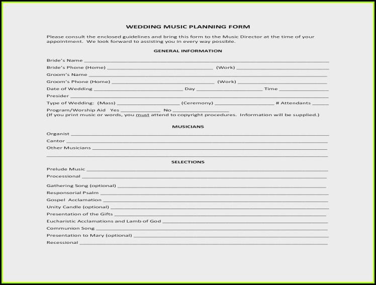 Wedding Planning Consultation Form