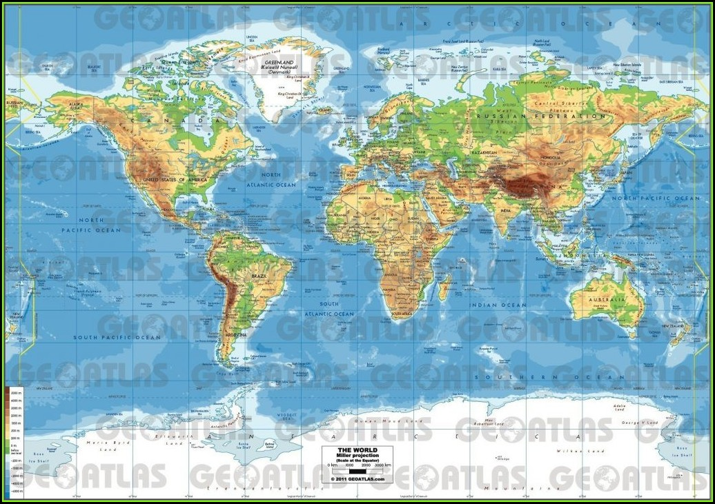 World Map Atlas With Countries Pdf