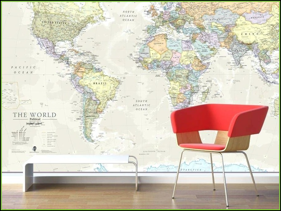 World Map Murals Vinyl Decals