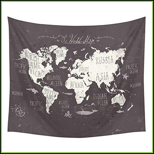 World Map Tapestry Cheap