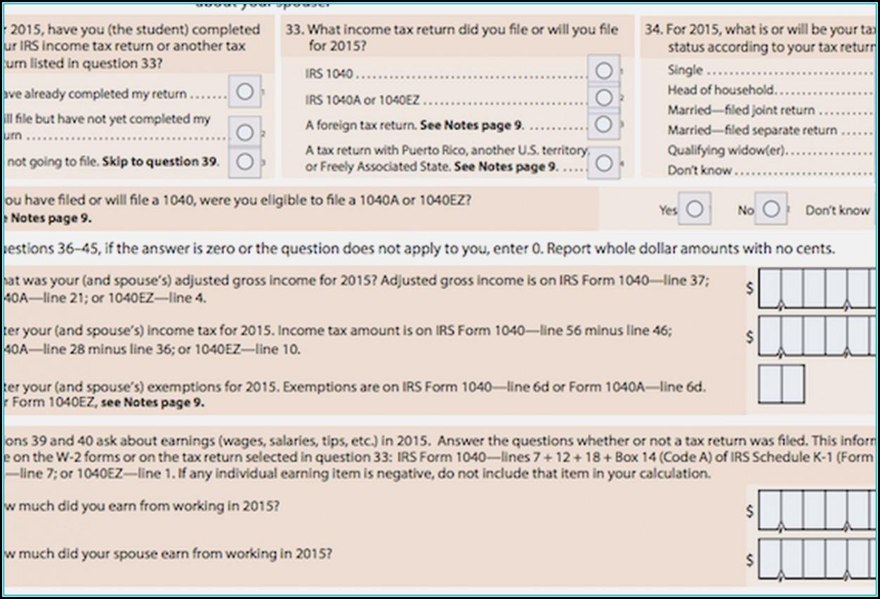 2015 Federal 1040ez Form