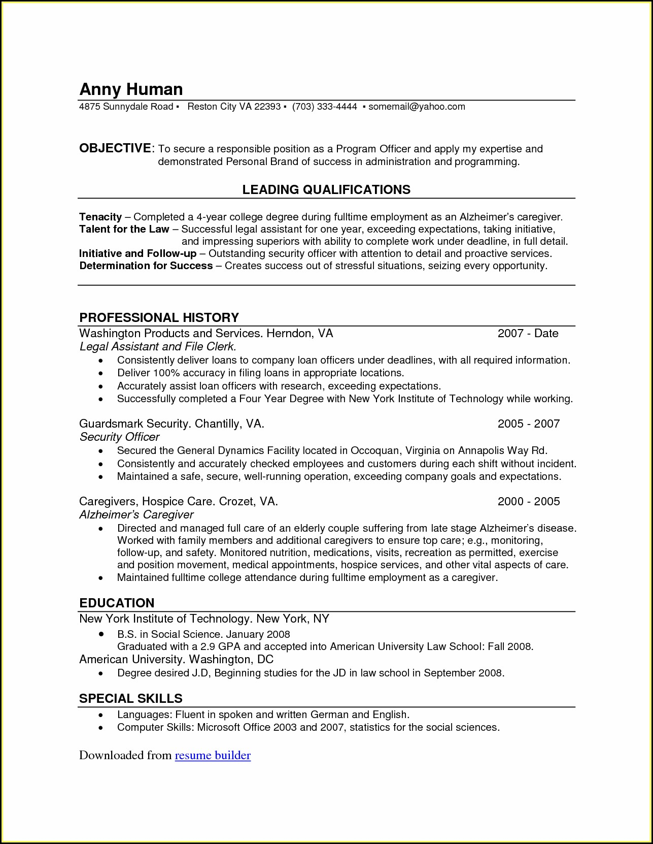 Are There Any Completely Free Resume Builders