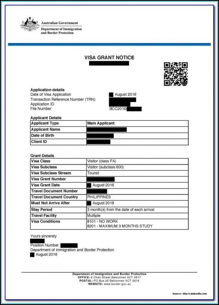 Australia Visa Form 1419 Download