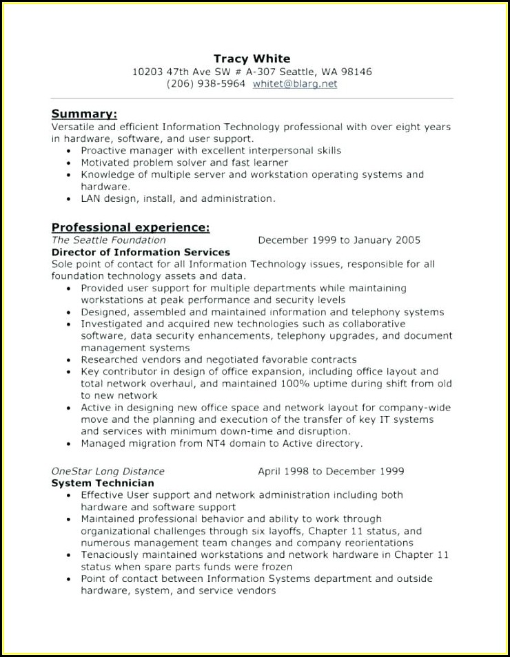 Aviation Technician Resume Templates