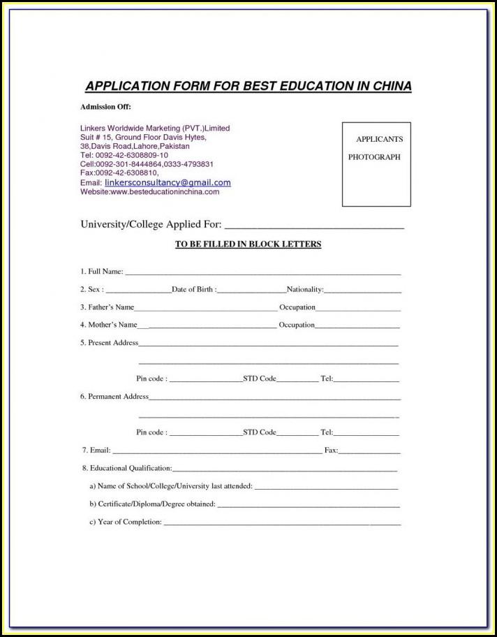 Blank Resume Format In Word