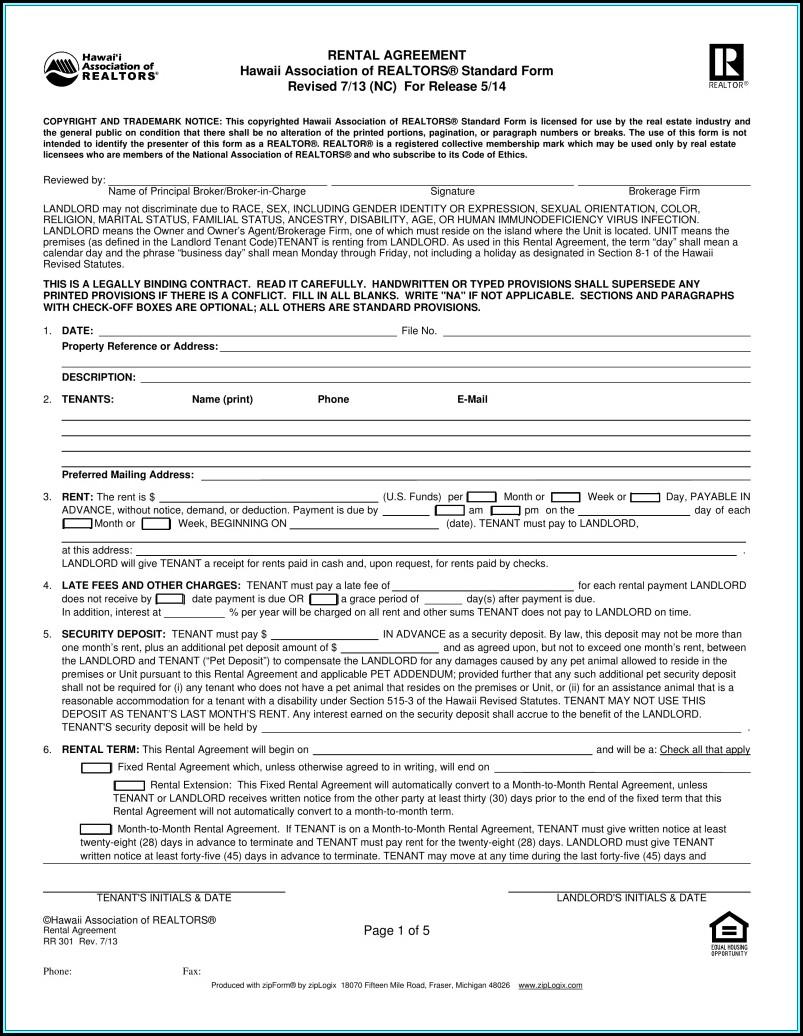 California Association Of Realtors Forms Rental Agreement