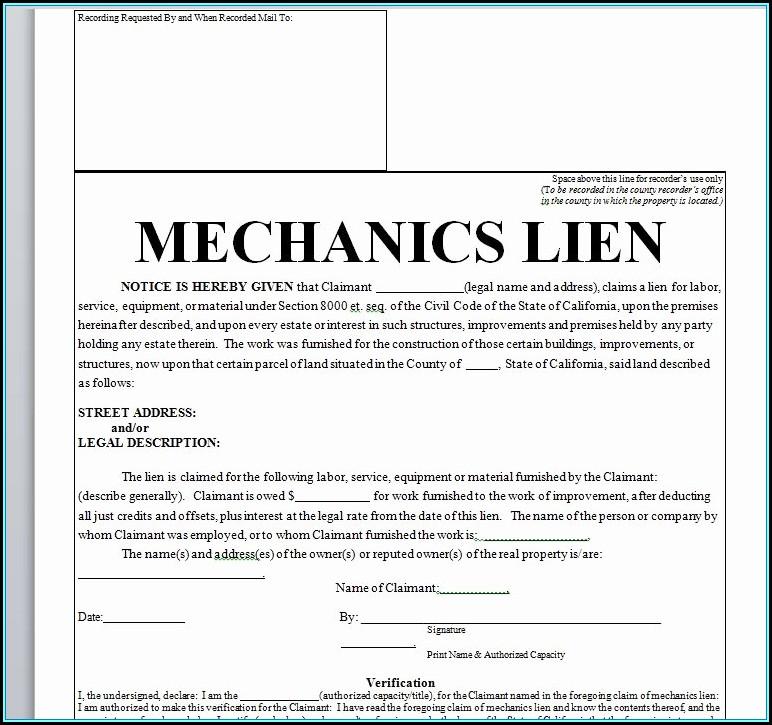 Car Lien Release Form Texas
