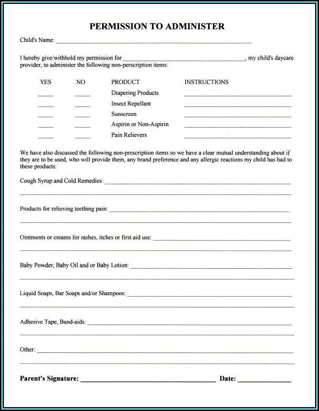 Child Care Authorization Form Texas