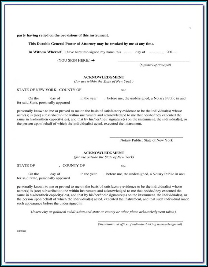 Colorado General Durable Power Of Attorney Form