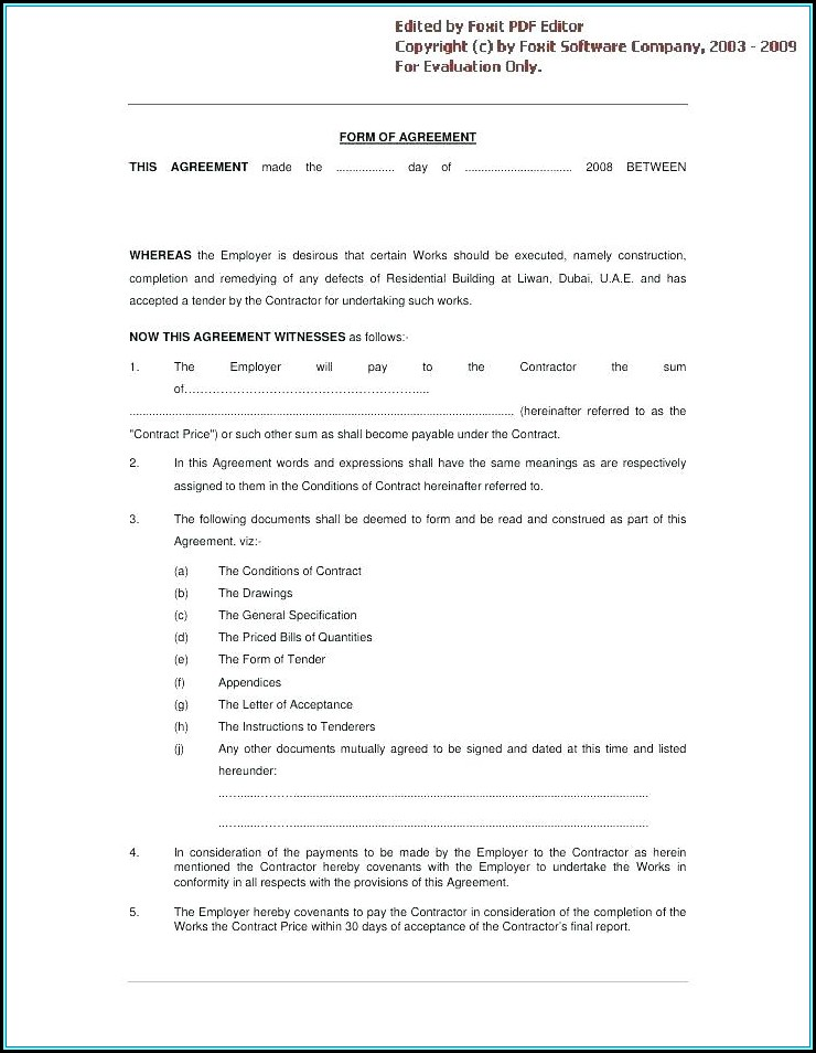 Construction Project Management Contract Download Forms
