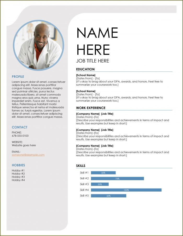Cv Format Template Word Free