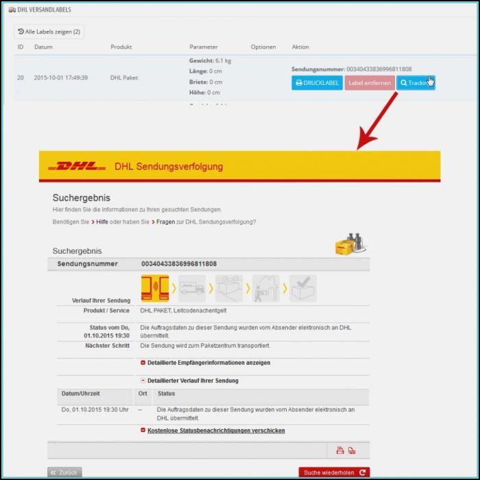 Dhl Homepage Shipment Form