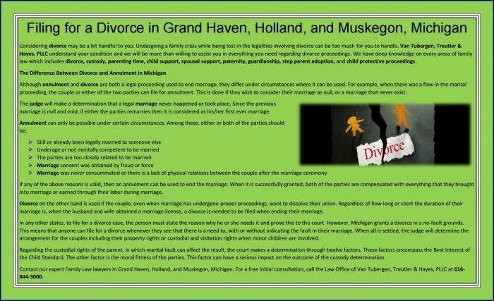 Divorce Filing Michigan