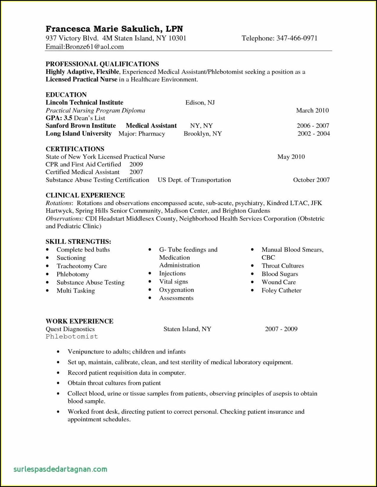 Examples Of Graduate Nurse Resumes
