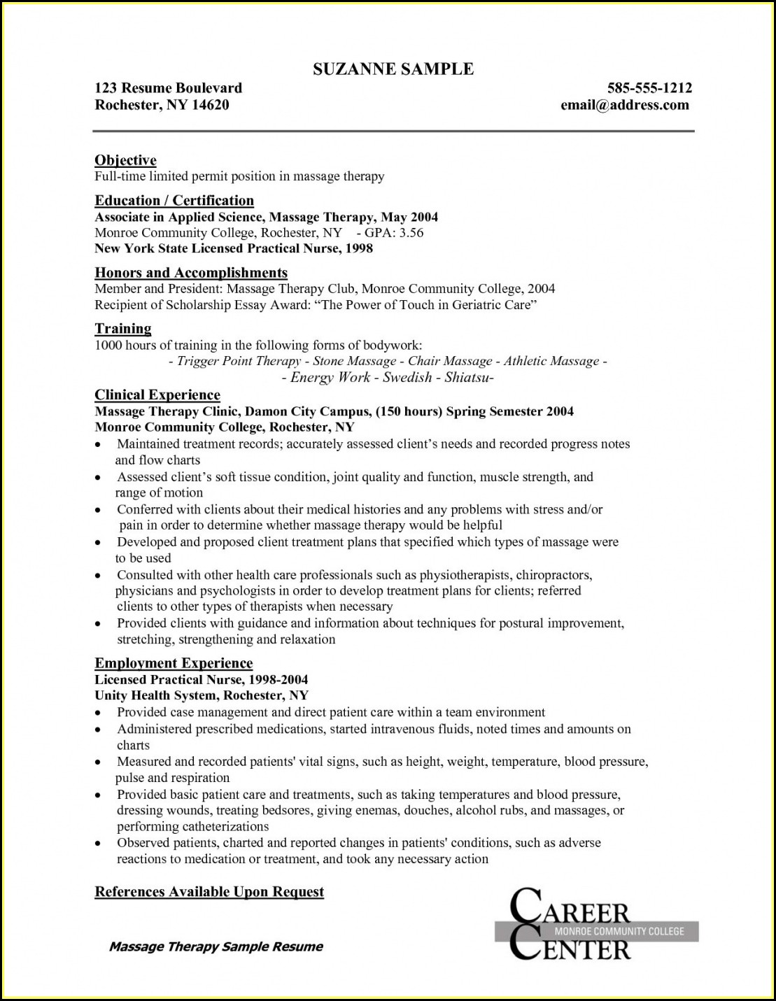 Examples Of Rn Resumes