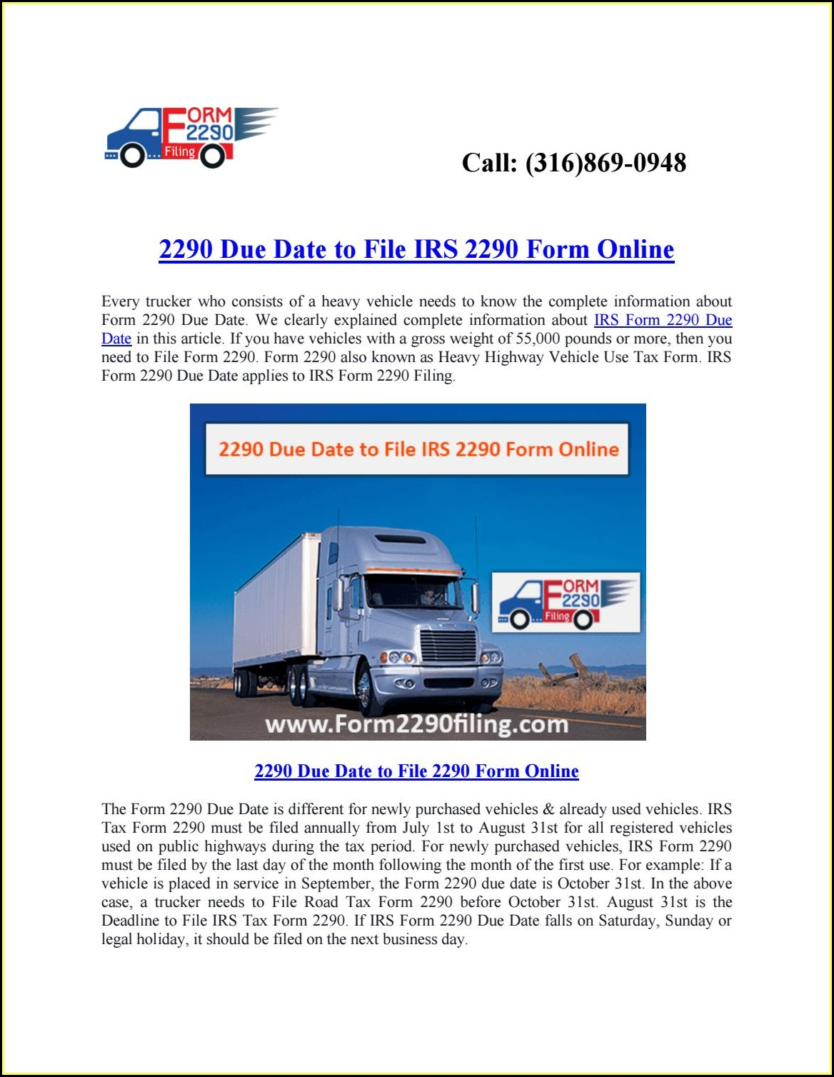 File Irs Form 2290 Online