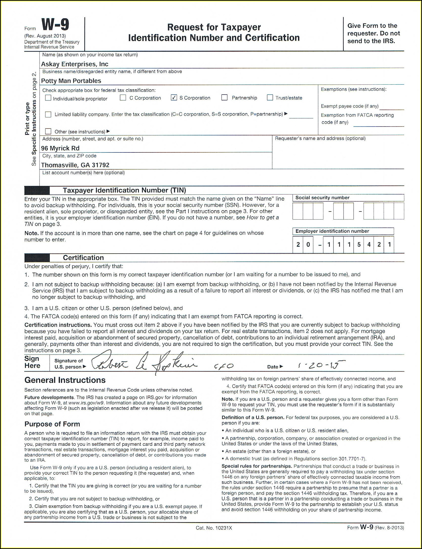 Fillable Form W 9 2019