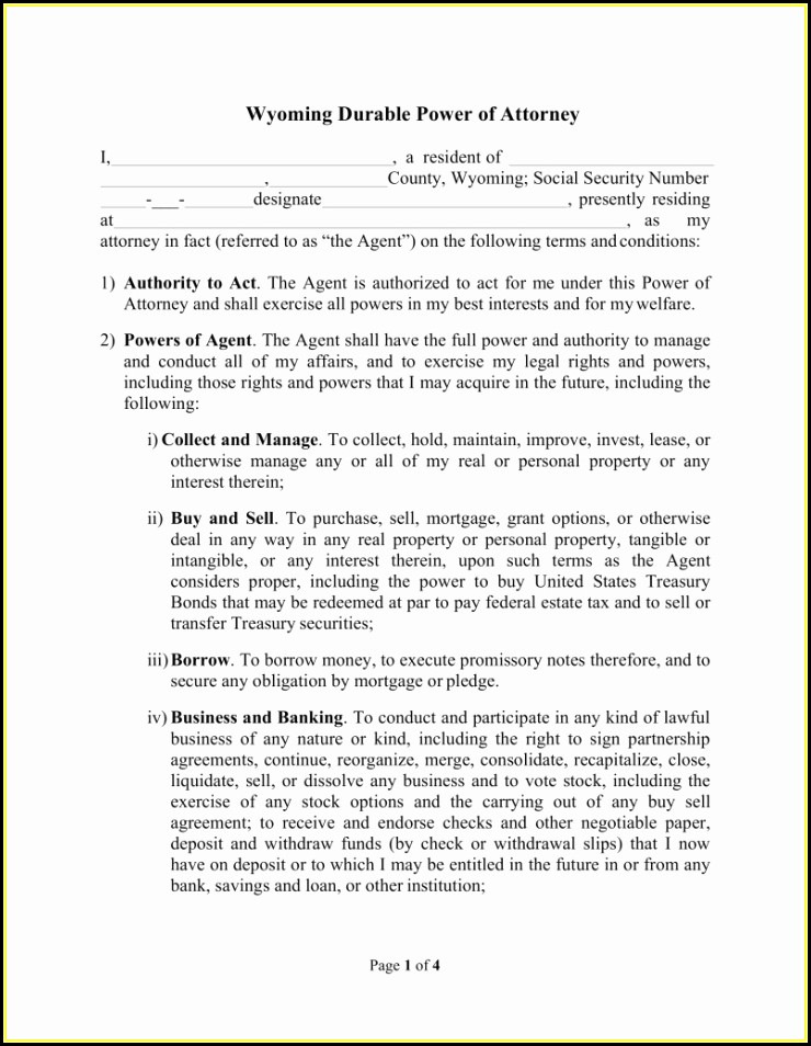 Financial Power Of Attorney Form Arkansas
