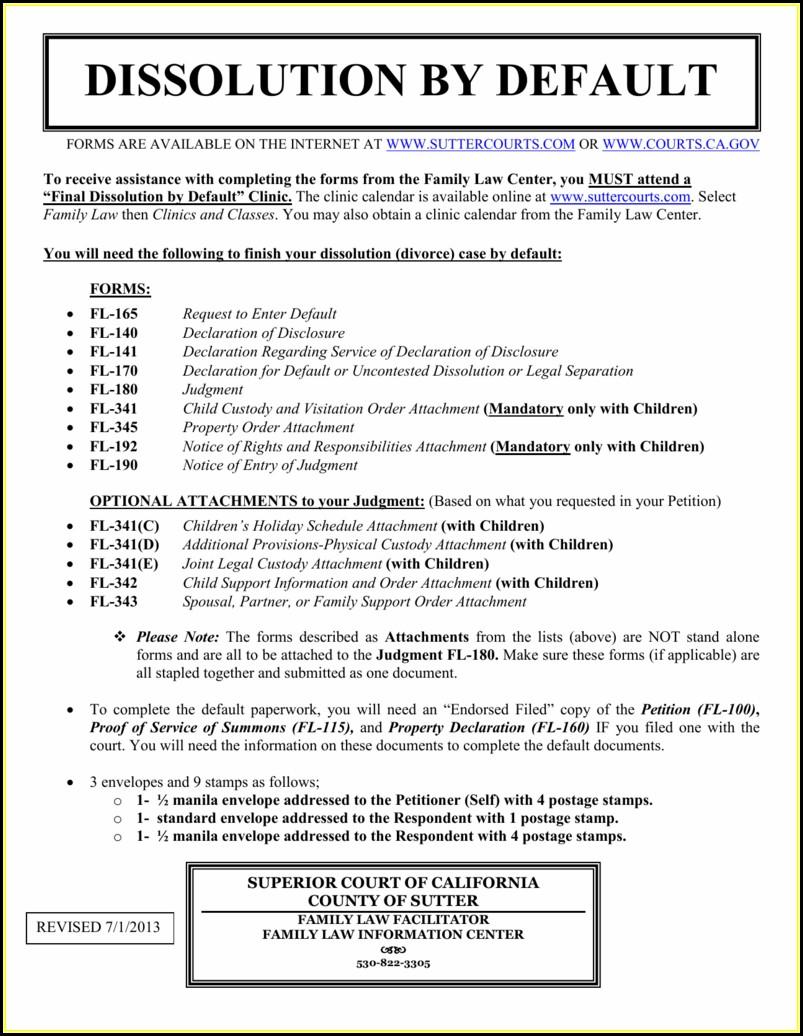 Fl Courts Divorce Forms