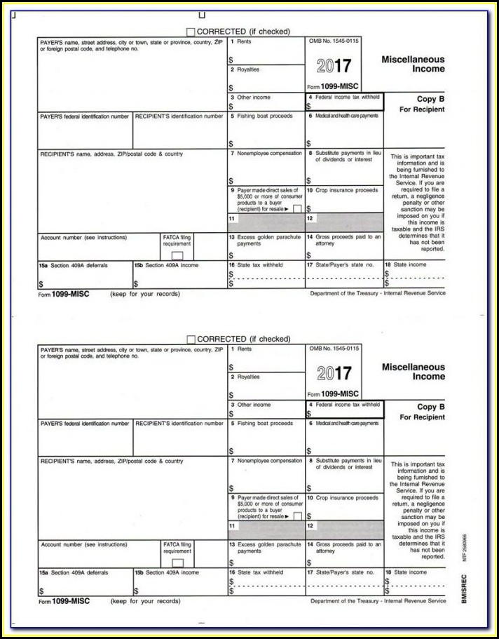 Free Fillable 1099 Misc Form Online