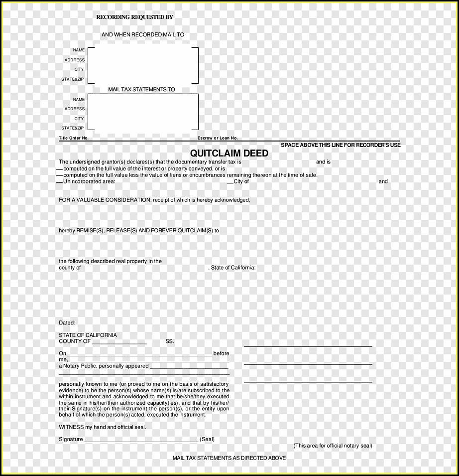 Free Florida Quitclaim Deed Form