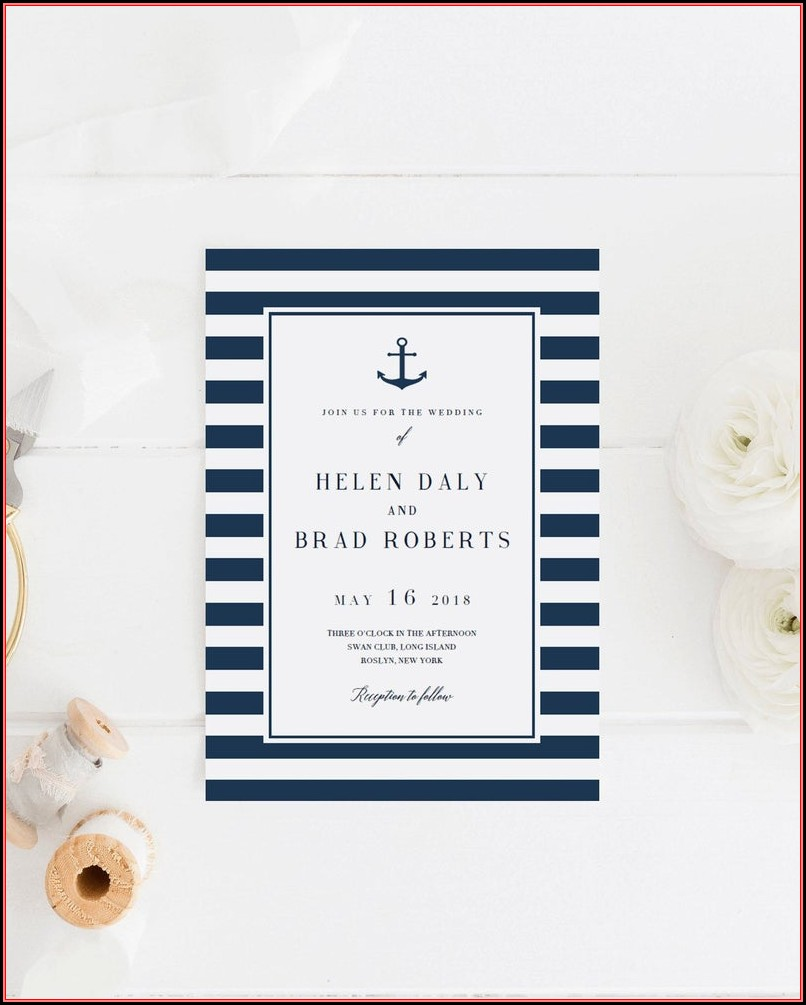 Free Nautical Wedding Invitation Templates