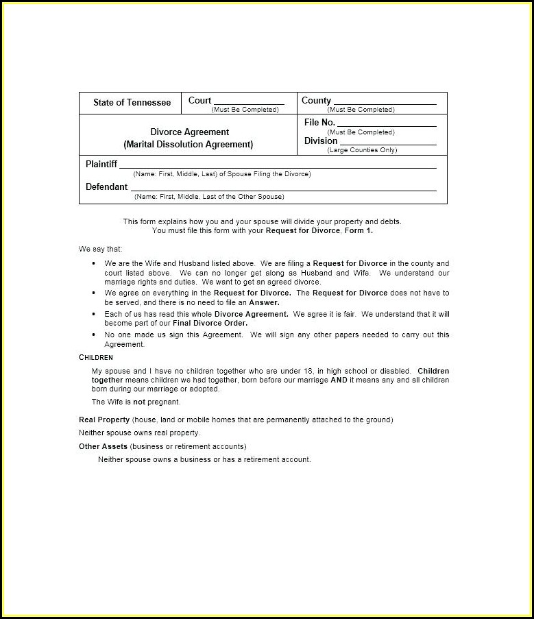 Free Nc Uncontested Divorce Forms
