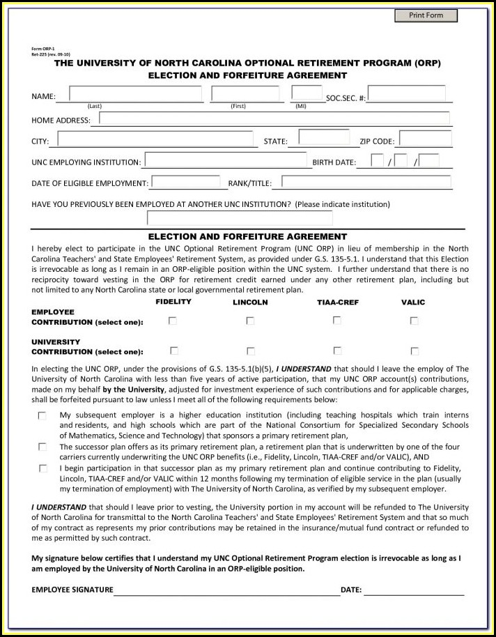 Free North Carolina Separation Agreement Forms