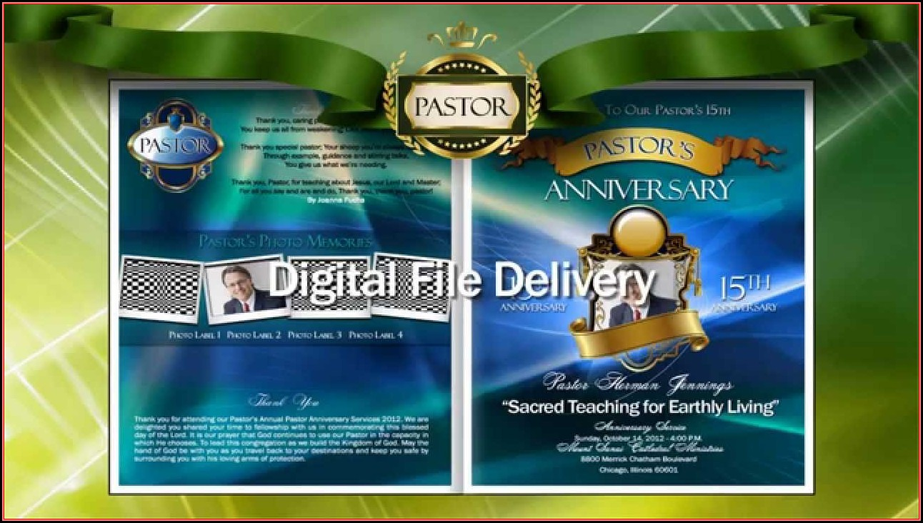 Free Pastor's Anniversary Programs Samples