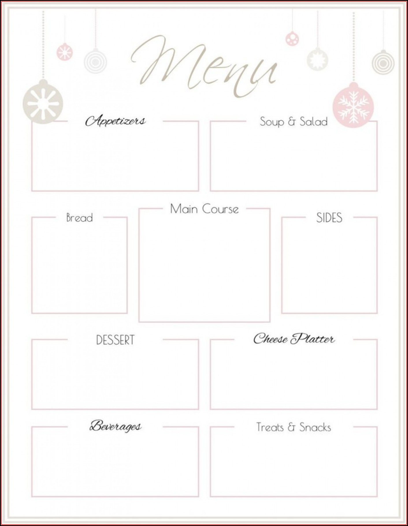 Free Printable Bakery Menu Templates