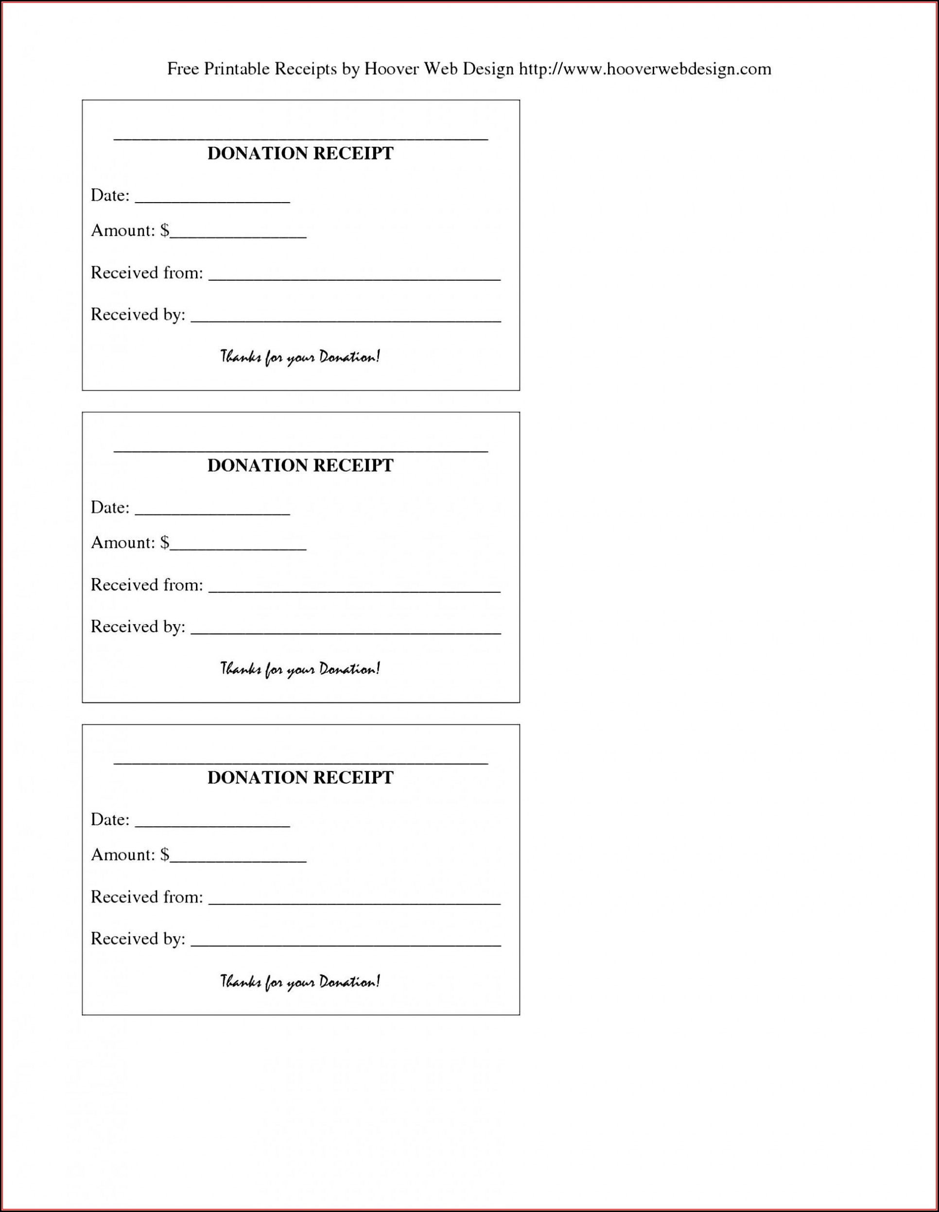 Free Printable Donation Receipt Template