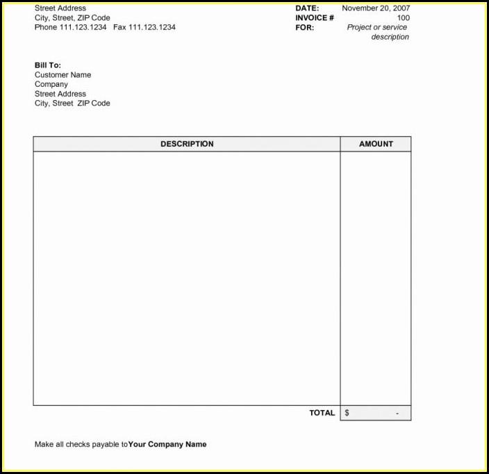 Free Printable Invoice Templates Pdf