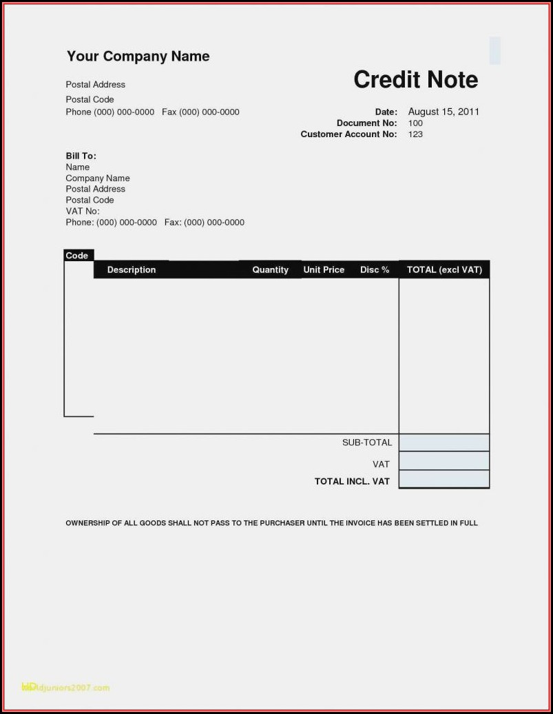 Free Printable Invoices Templates