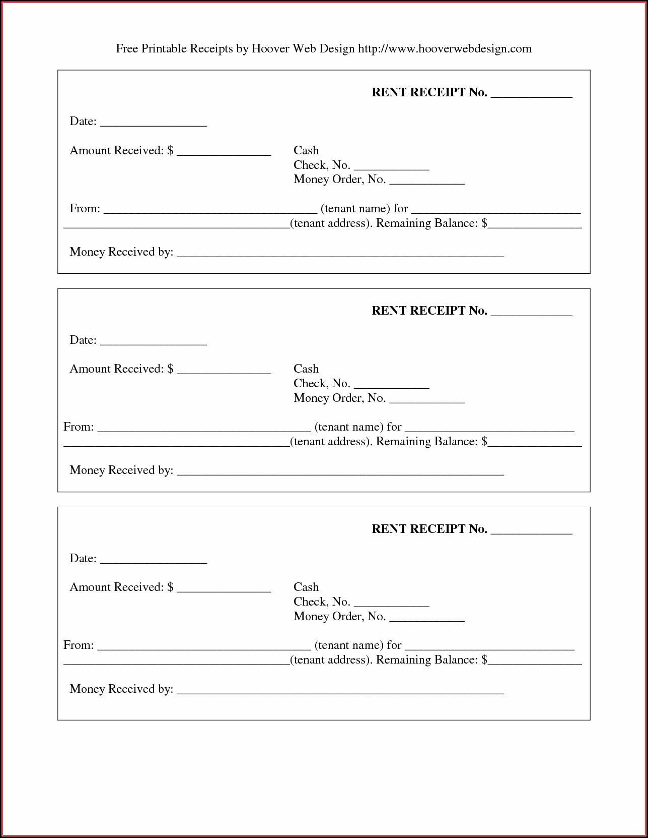 Free Printable Receipt Template
