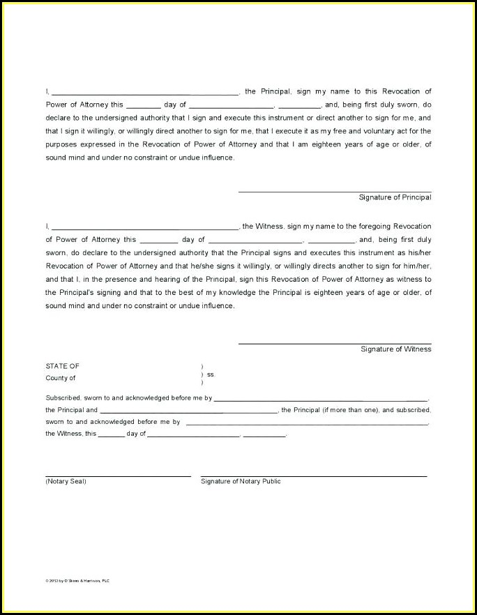 Free Texas Durable Power Of Attorney Forms To Print