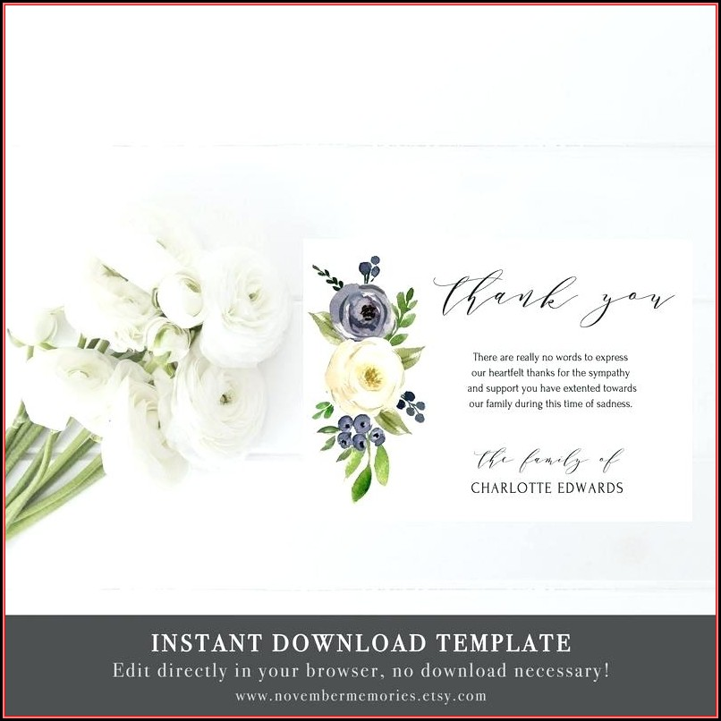 Funeral Flower Cards Templates