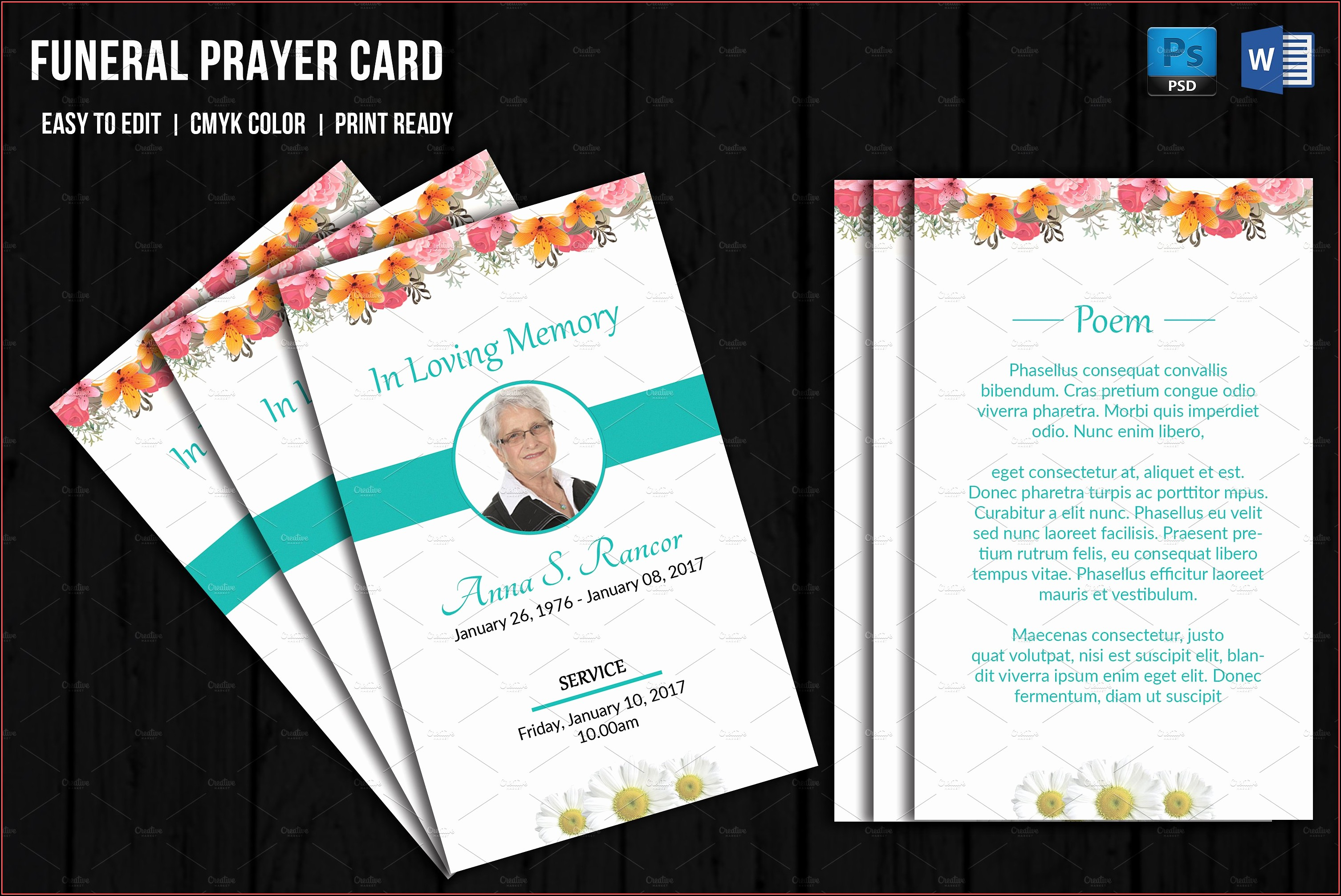 Funeral Prayer Cards Templates