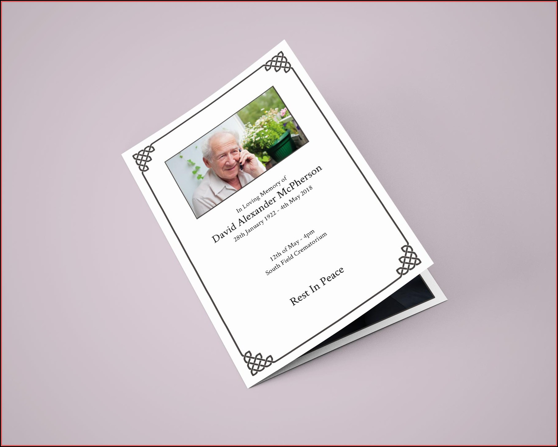 Funeral Service Template Uk Free