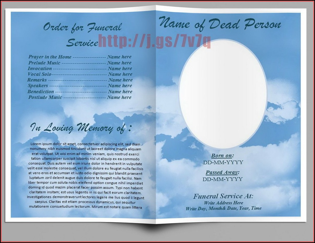 Funeral Service Template Word Free