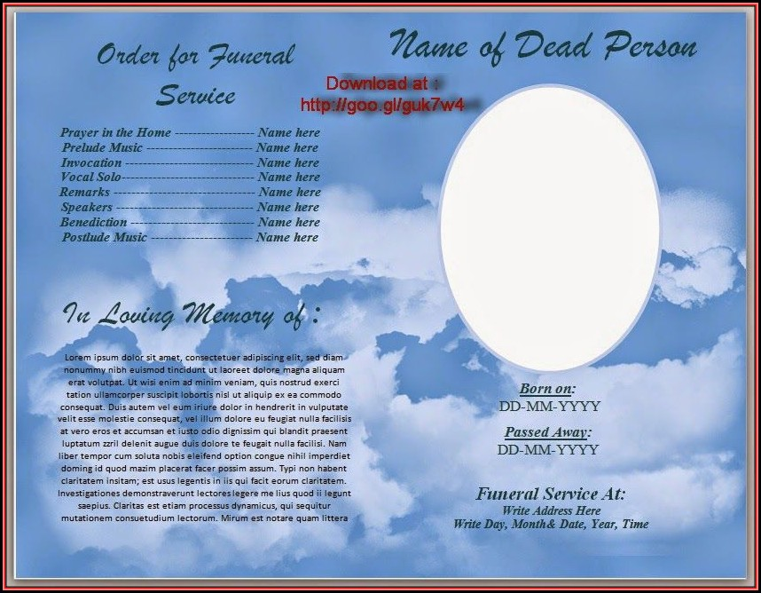 Funeral Service Template Word