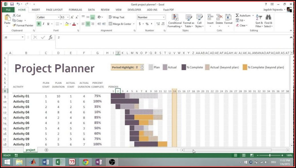 Gantt Chart Template Excel 2013 Free Download
