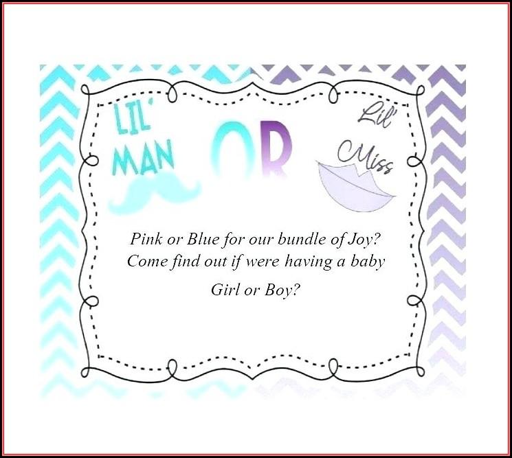 Gender Reveal Invitation Maker Online