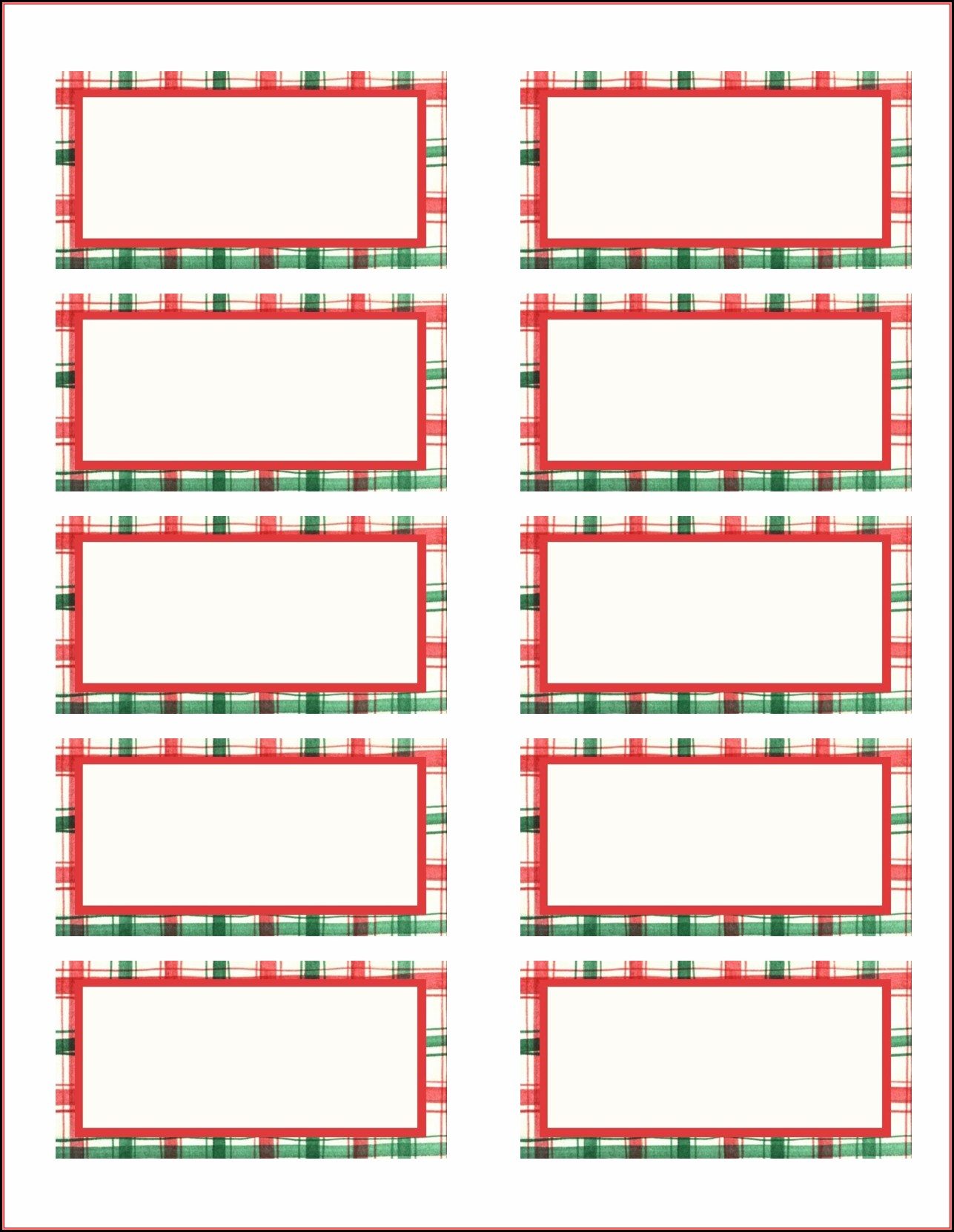 Gift Label Template Word