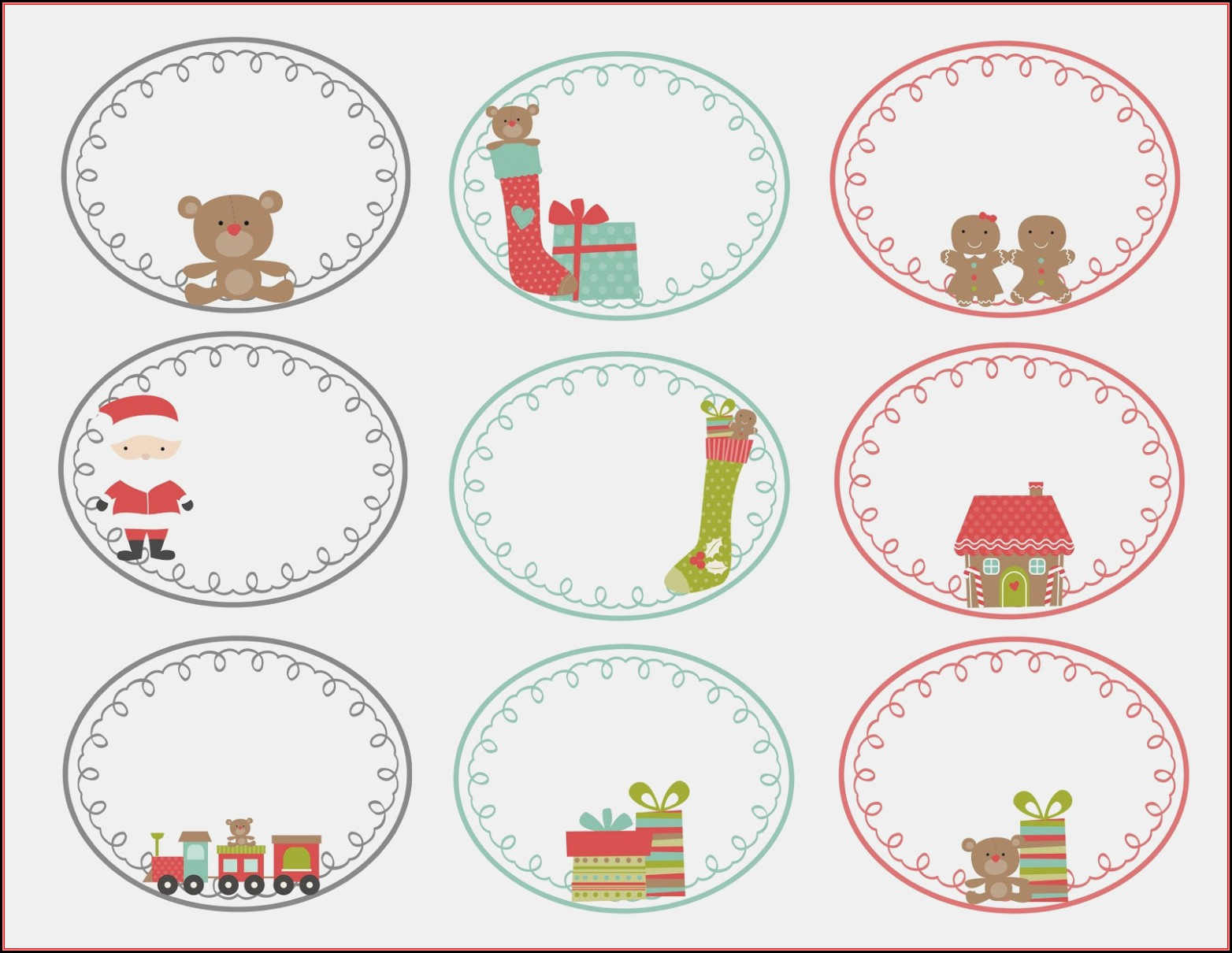 Gift Label Templates Christmas