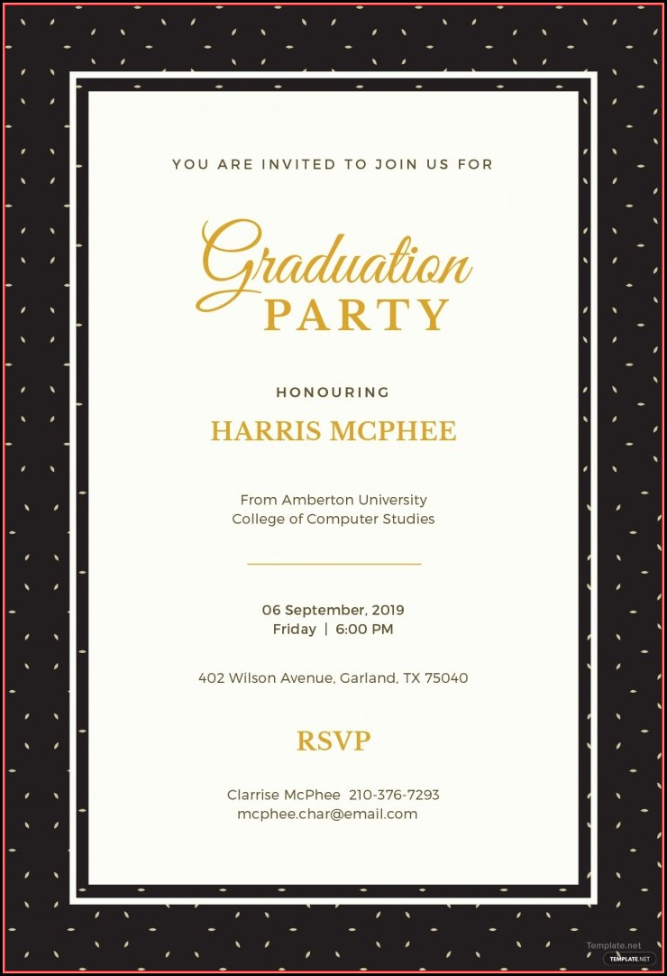 Graduation Invitation Template Free