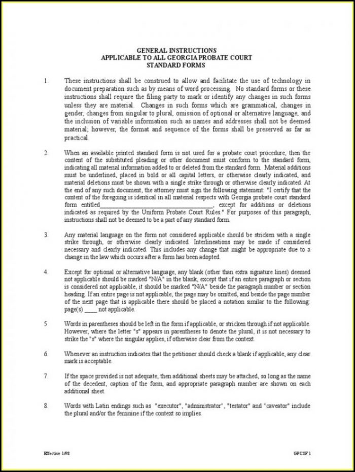 Guardianship Petition Georgia