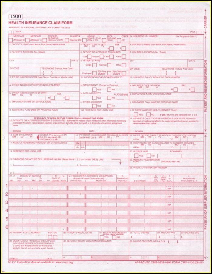 Health Insurance Claim Form 1500