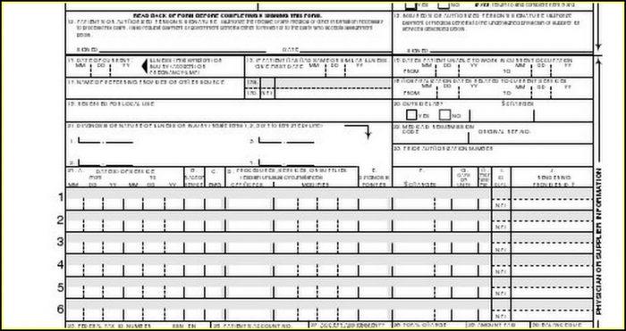 Health Insurance Claim Form 1500 Fillable Pdf