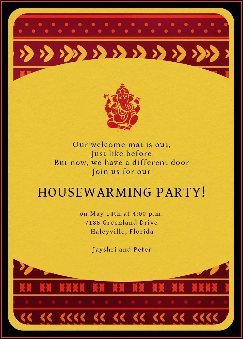 Housewarming Invitation Templates Indian