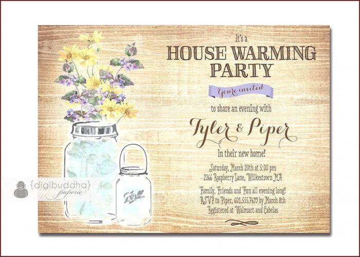 Housewarming Party Invitation Format